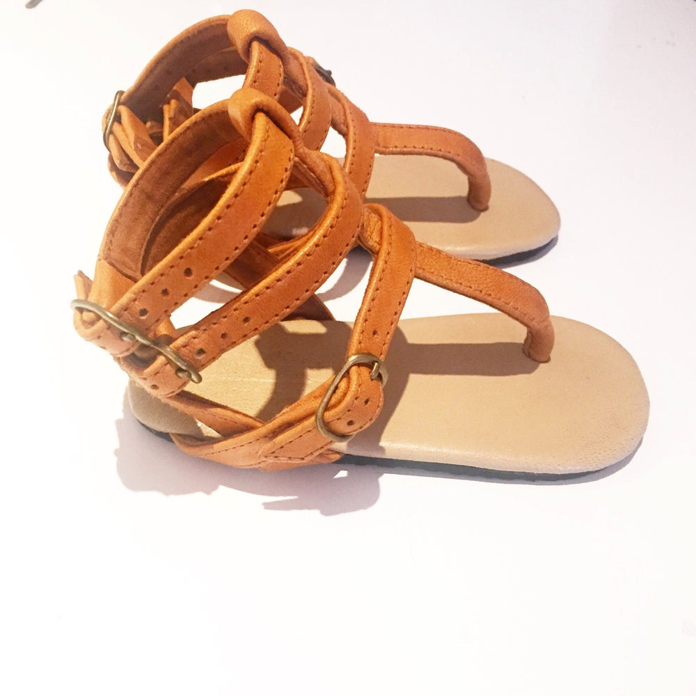 Image of Gladiator Sandal - Tan
