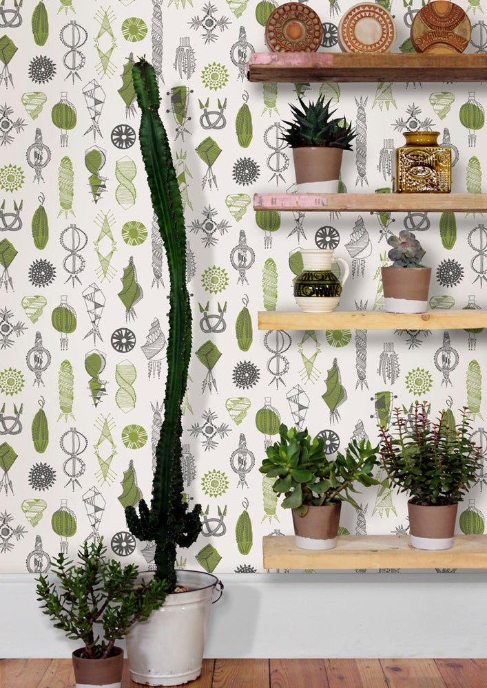 Image of Equinox Wallpaper - Asparagus
