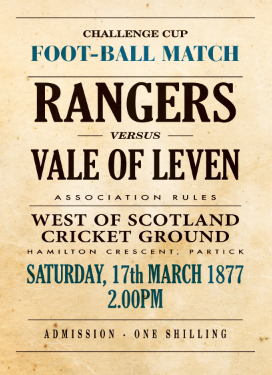 Image of Rangers v Vale of Leven 1877 Poster