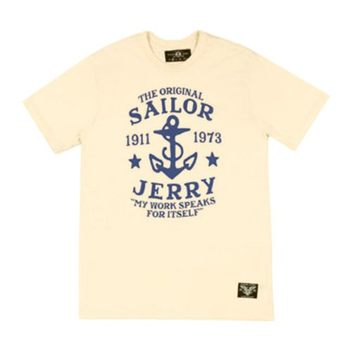 Image of Sailor Jerry Men's T-Shirt - My work speaks for itself (Cream)