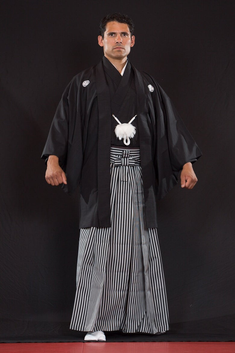 Image of Montsuki with Haori Set (black)
