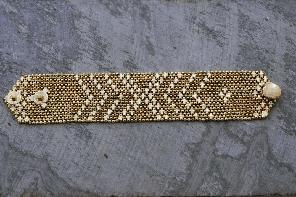Image of Small armour bracelet in brass