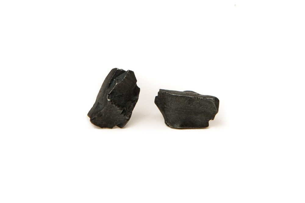 Image of oxidised stone earrings