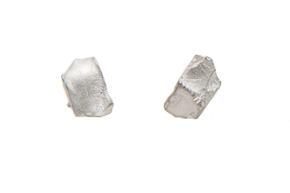 Image of silver stone earrings