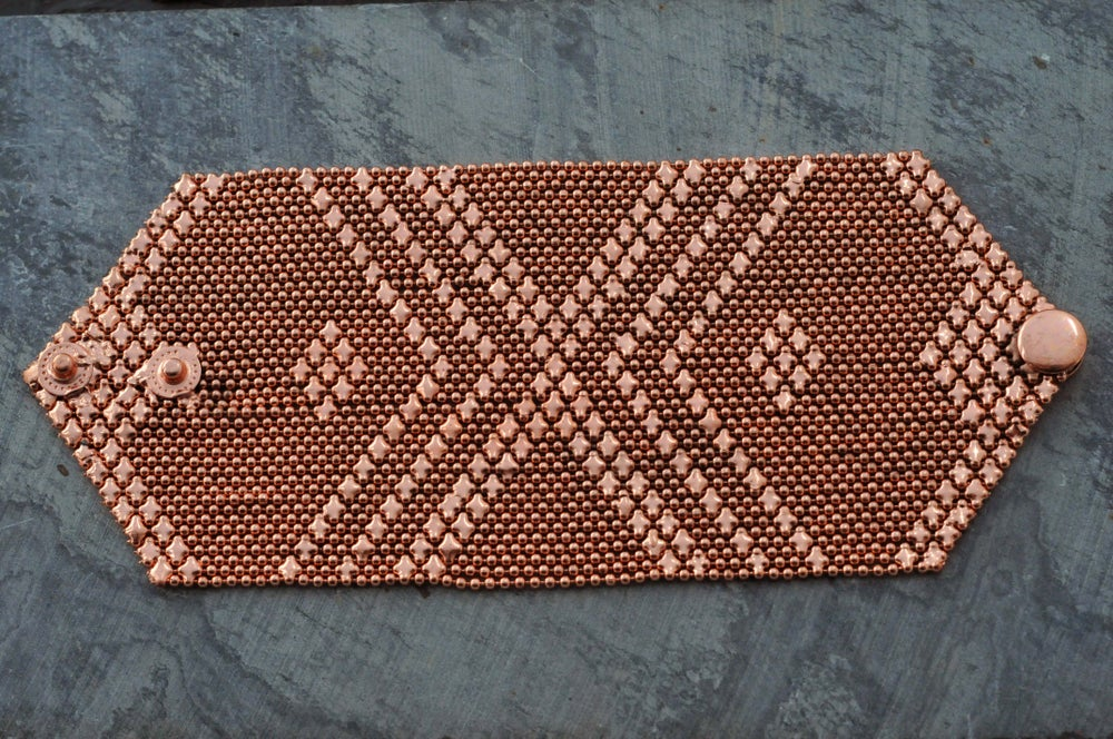 Image of Big armour bracelet in copper