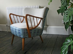 Image of 1950's spoke arm cocktail chair