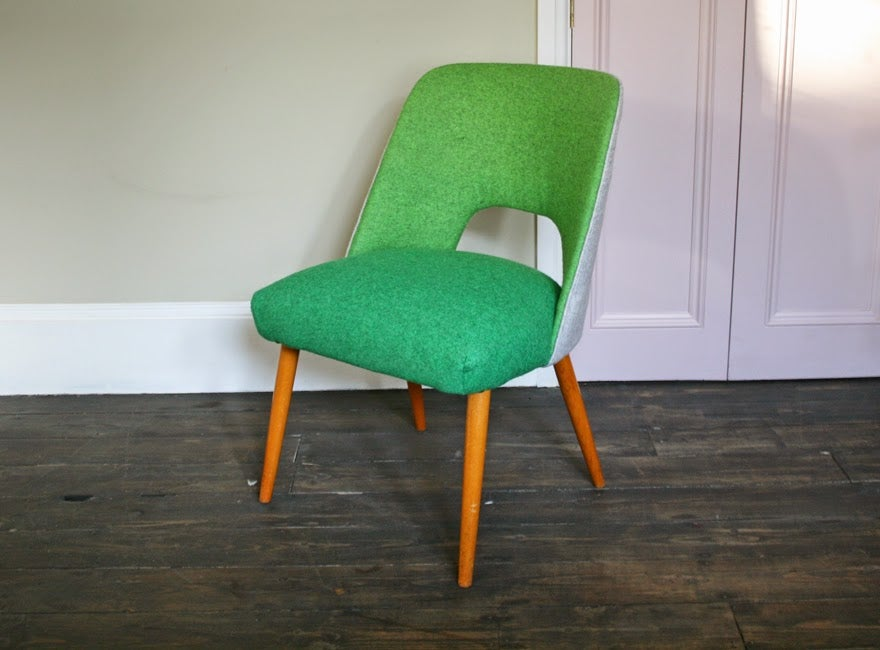 Image of 1950's occasional chair in green