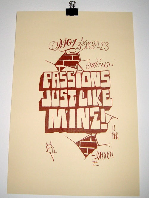 Image of Passions Just Like Mine Silkscreen Poster