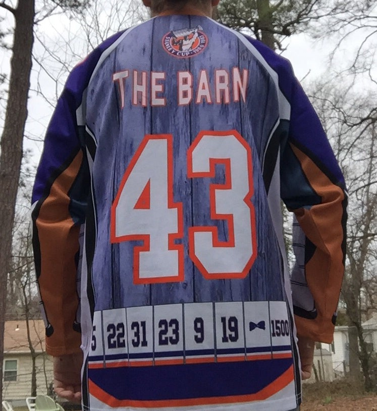 "Image of ""The Barn"" Limited Edition Nassau Coliseum Tribute Hockey Jersey"