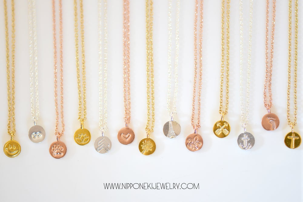 Image of Tiny Charm Personalized Necklace - Silver, Rose Gold or Gold Necklace
