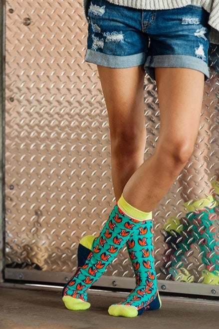 Image of Foxy Lady : Woven Pear Socks