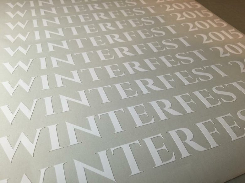 Image of WINTERFEST 2015 EVENT DECAL