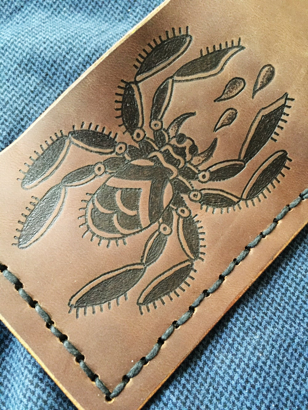 Image of Custom Leather Bifold Wallets