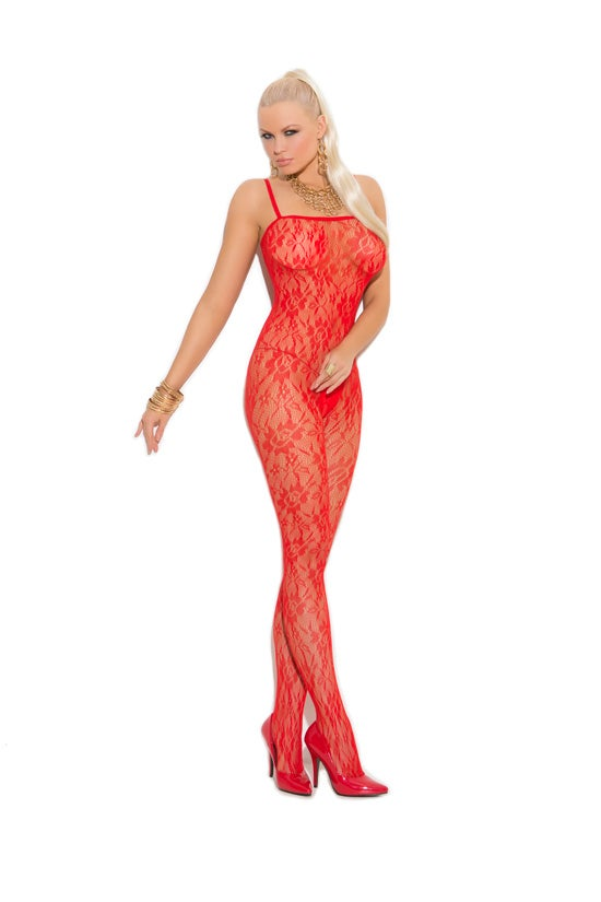 Image of  lace bodystocking with open crotch