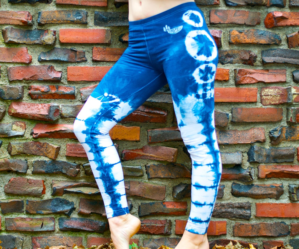 Image of Shibori Indigo Leggings