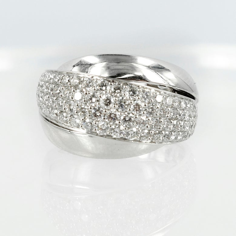 Image of White Gold Pave set diamond ring