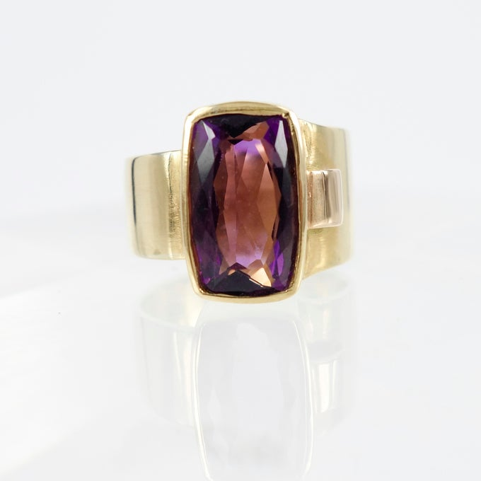 Image of Amethyst cocktail ring