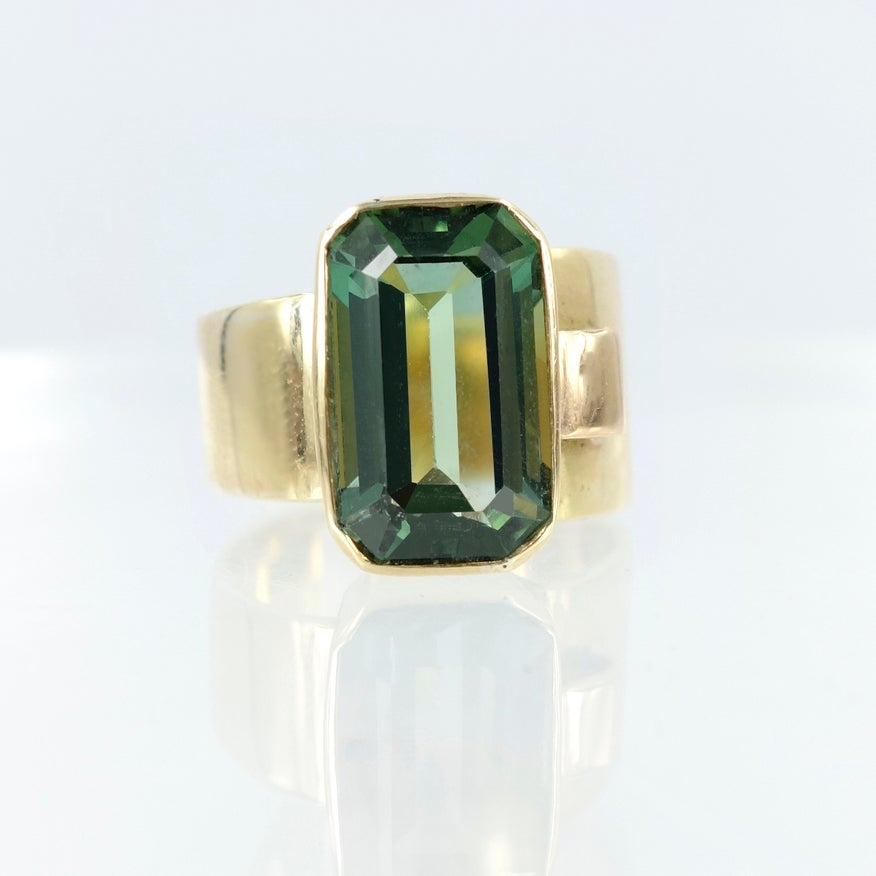 Image of Green Tourmaline cocktail ring