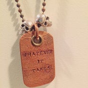 "Image of Skull & Dog Tag Copper ""Whatever It Takes"" (ONE OF A KIND)"