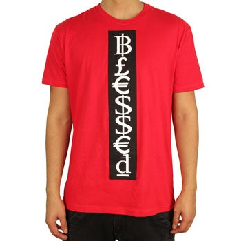 Image of Blessed Tee (Red/Black/White)