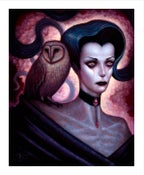 "Image of Lilith and Her Owl Familiar- 8x10"" Open Edition"