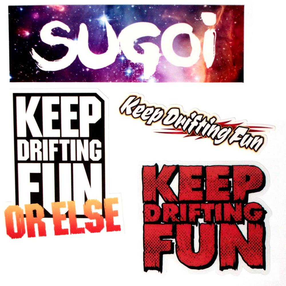 Image of Keep Drifting Fun Sticker Pack