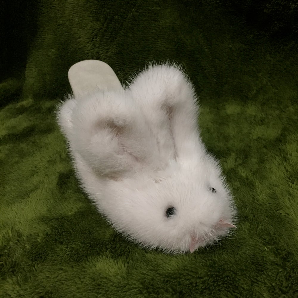 Image of Recycled Mink Bunny Slippers