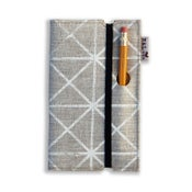Image of Pocket Linen Notebook with Piano Nobile Print