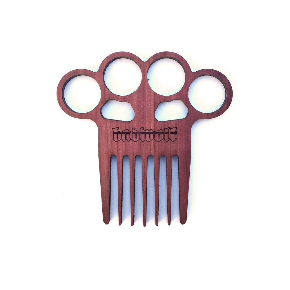 Image of BadWolf 'Matador' Knuckle Duster Beard Comb
