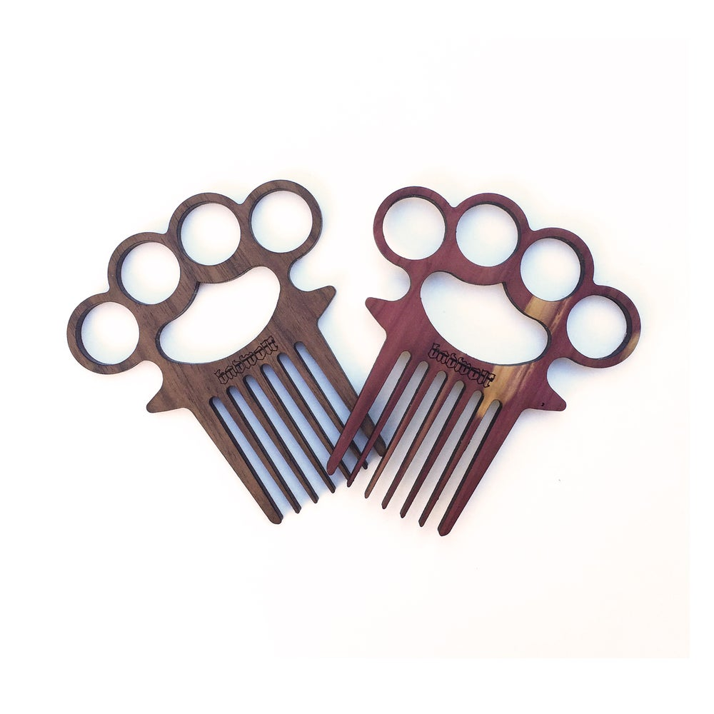 Image of BadWold 'Vago' Knuckle Duster Beard Comb