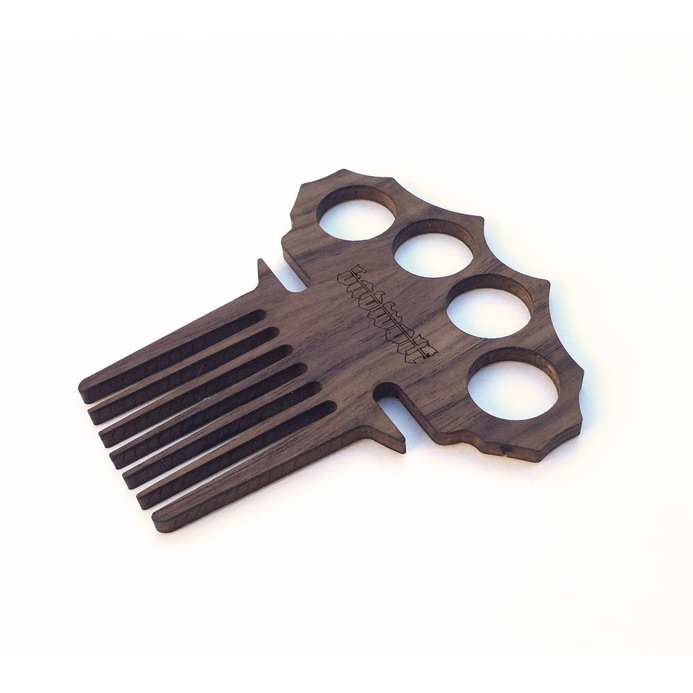 Image of BadWolf 'Count' Knuckle Duster Beard Comb