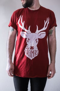 Image of Deer Tee - Cranberry