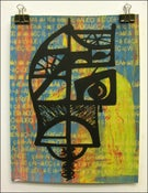 "Image of MJL ""Small Background Gibberish Naked Lunch Face"" Art Print"