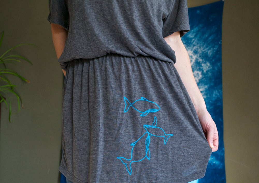 Image of CLEARANCE!!! Whale Pod- Flowy Tunic Dress