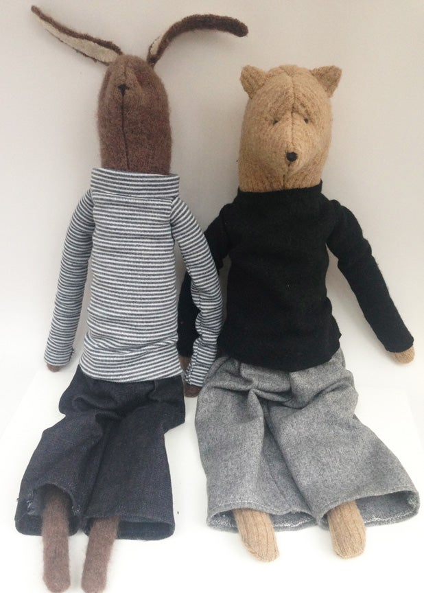 Image of Bear and Hare (reserved for Chelsey)