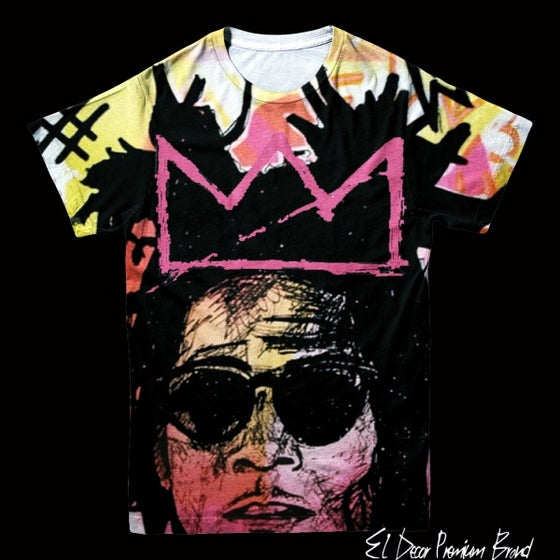 "Image of Basquiat Inspired ""Crown Me King"" Crew Neck Jersey T-Shirt"
