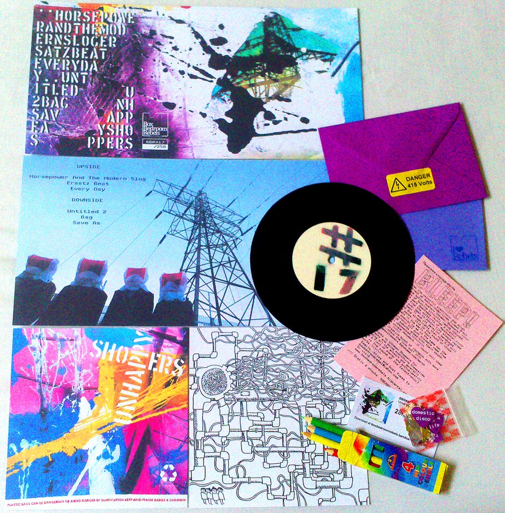 """Image of BBR#17 UNHAPPY SHOPPERS Limited Edition 6 track 7"""" E.P"""