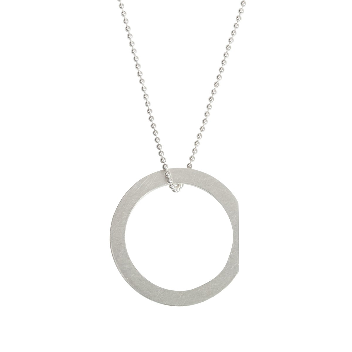Image of Convertible necklace/ring 'Circle+|- #4 Chop'