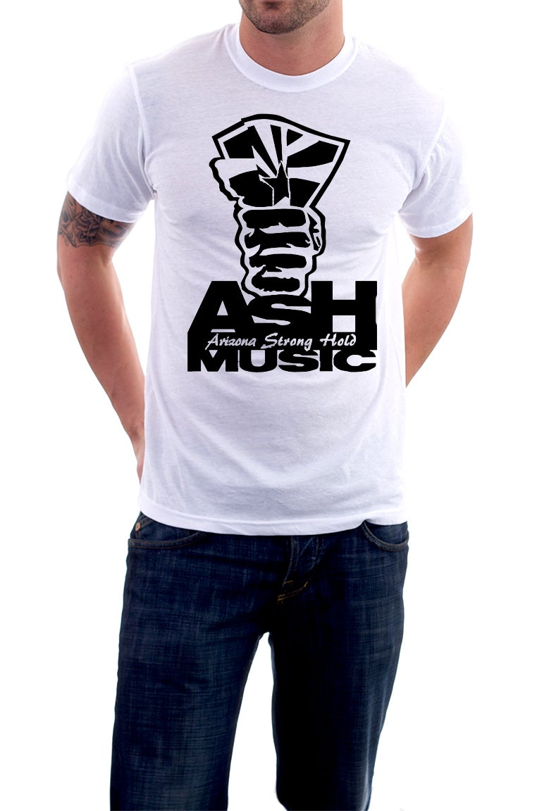 Image of White- Men's ASH Music T