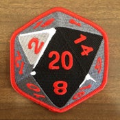 Image of D20 Embroidered Patch - BACK IN STOCK