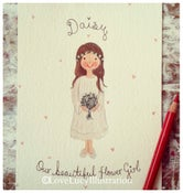 Image of Flower Girl/Bridesmaid Character Portrait Painting