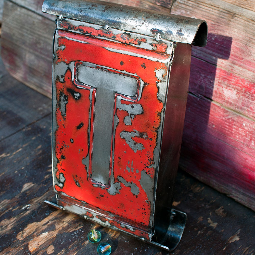 1958 Chevrolet Tailgate Letter T Metal Wall Art
