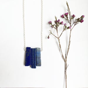 Image of Azure Pendant - lapis lazuli and sterling silver