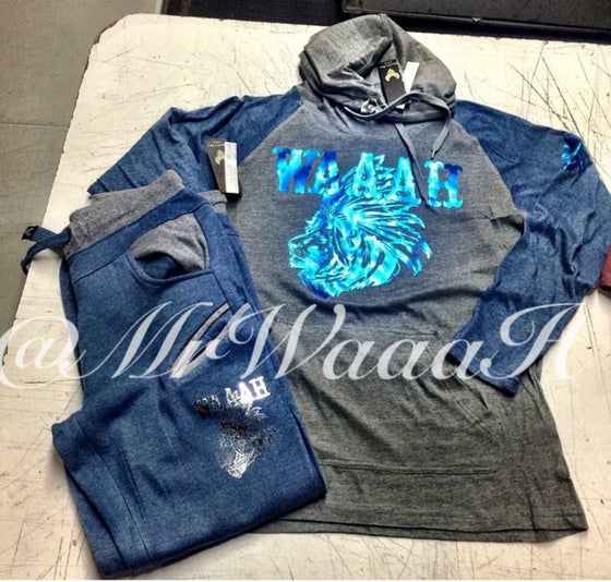 Image of Native Lion Sweatsuit (Blue)