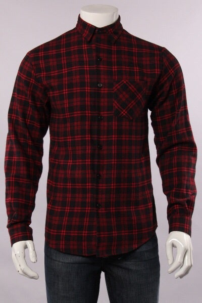 Image of Flannel Button Down w/ Leather Elbow Patches