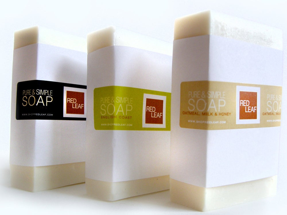 Image of Over Sized Bar Soap, Vegan Soap Bar, Red Leaf Soap Seattle WA