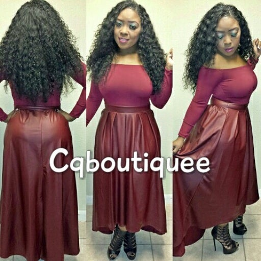 Image of Spicy Maxi Dress (burgundy)