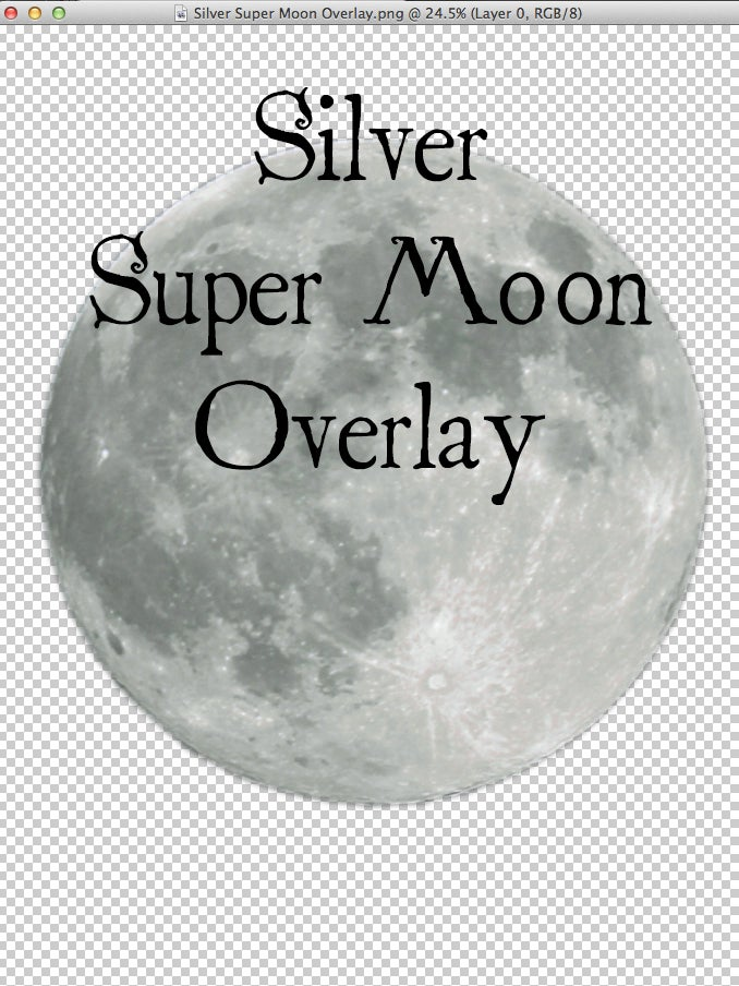 Image of Silver Super Moon Overlay