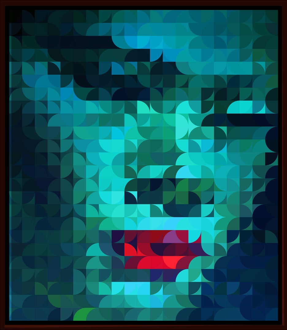 Image of Squint Abstract Face Print - 1