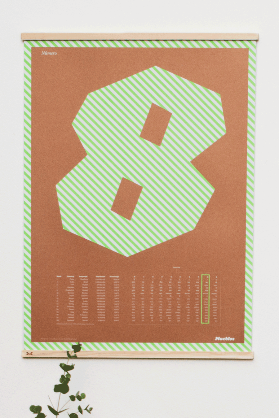 Image of Número Ocho · 50×70cm